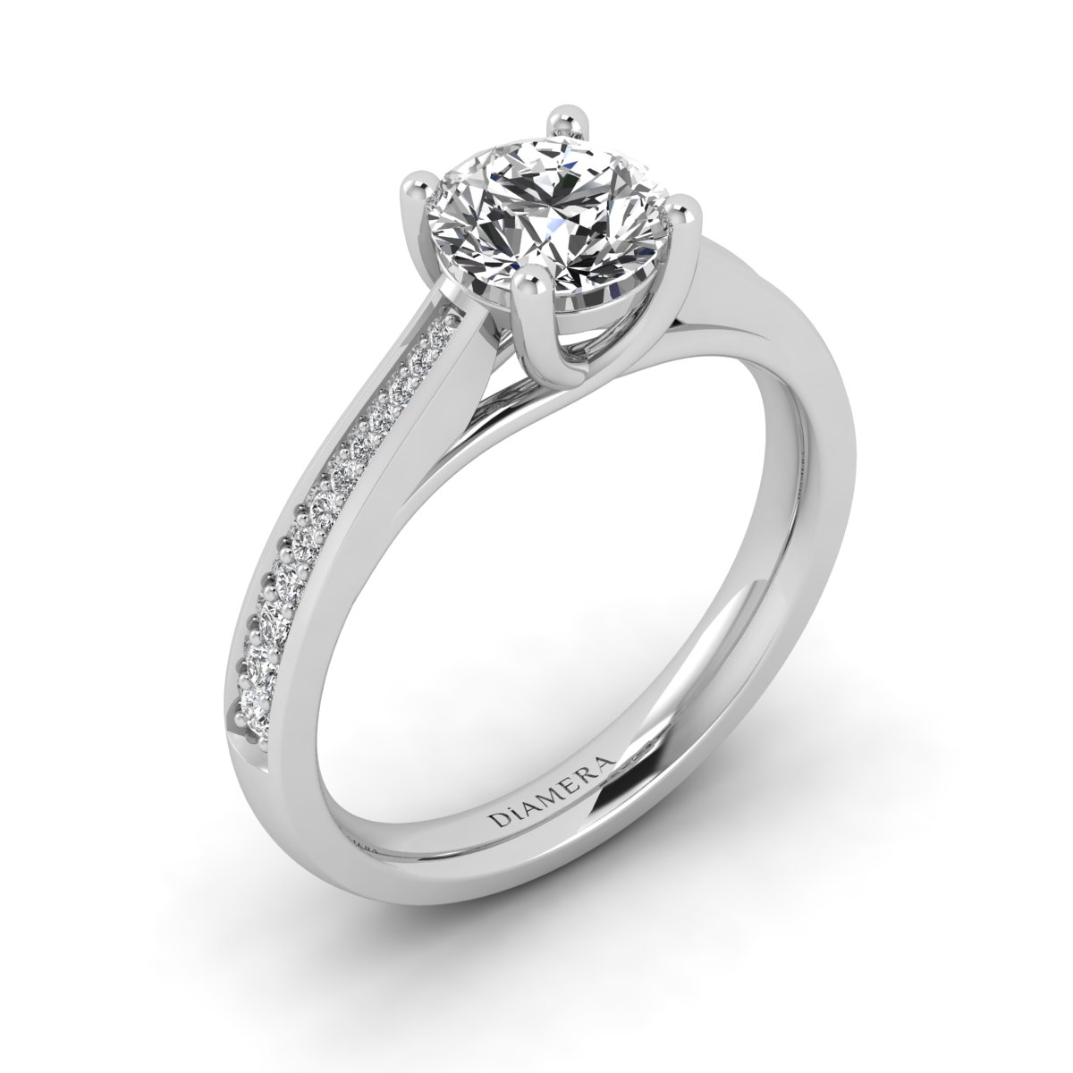 18K White Gold Candice Pave Engagement Ring