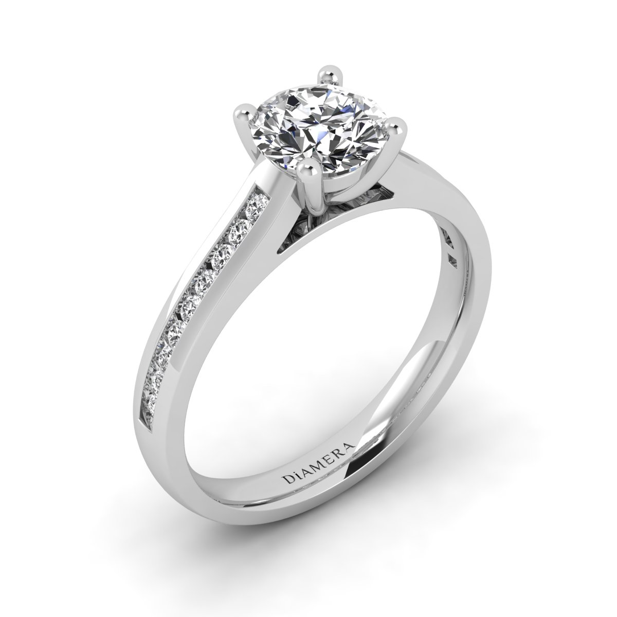 18K White Gold  Kenzie Pave Engagement Ring