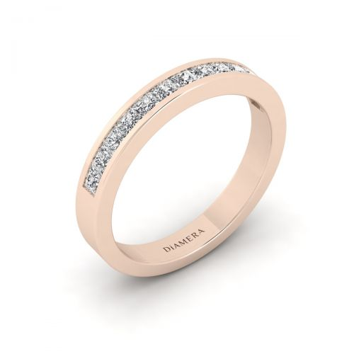 Half Eternity Princess Wedding Ring