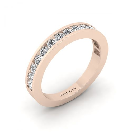 Half Eternity Channel Set Ring