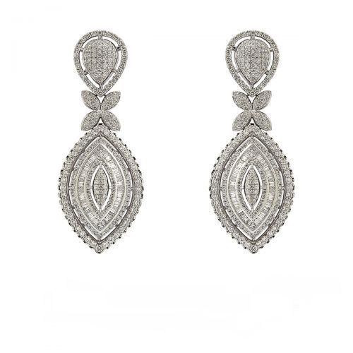Chic Baguette Diamond Earrings