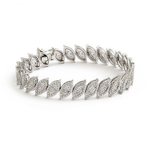Crystal Leaves Bracelet