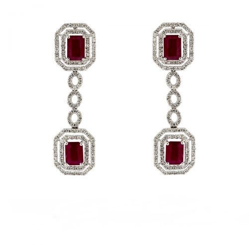 Elegant Ruby Drop Earrings