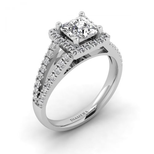 Majestic  Halo Engagement Ring