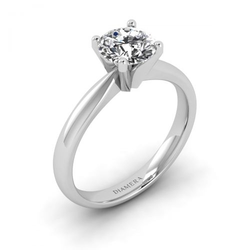 18K White Gold Amelia Solitaire Engagement Ring