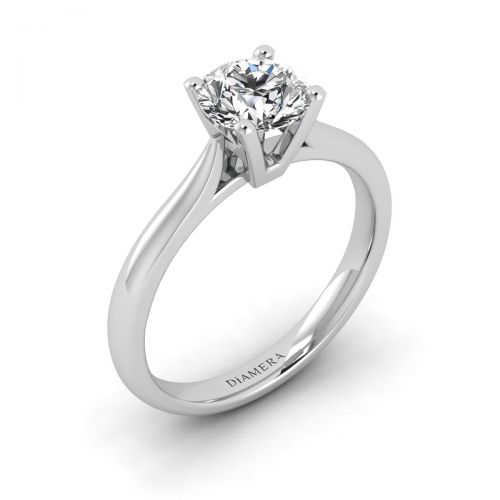 18K White Gold Kiara Solitaire Engagement Ring