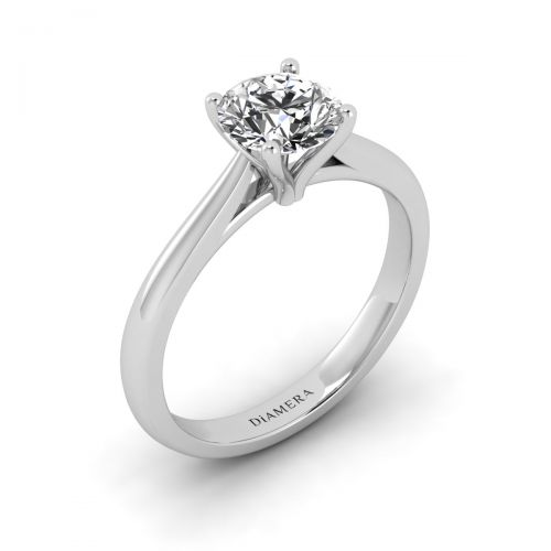 18K White Gold Amaya Solitaire Engagement Ring