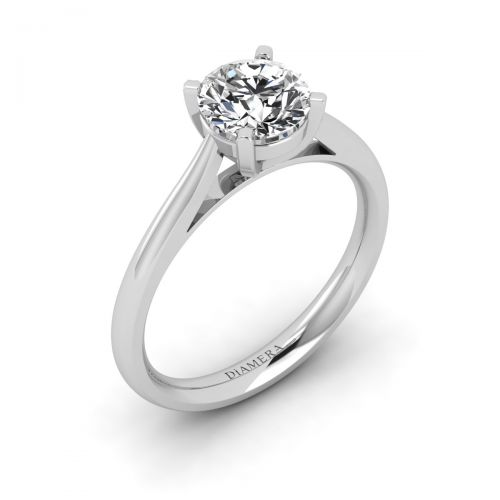 18K White Gold Franziska Solitaire Engagement Ring