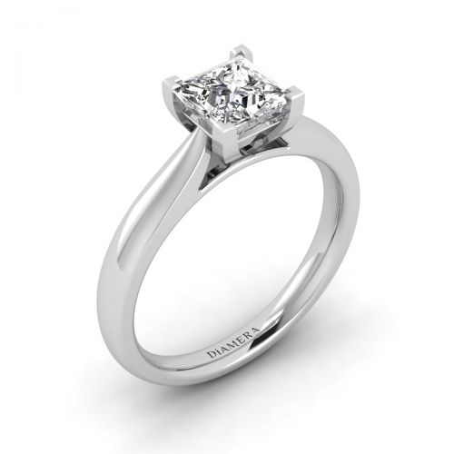 18K White Gold Jessica Solitaire Engagement Ring