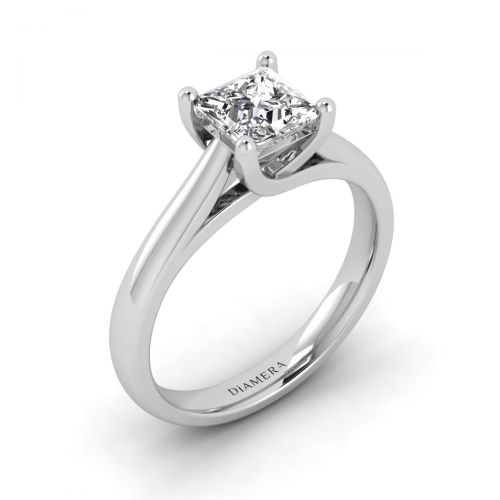 18K White Gold Fiona Solitaire Engagement Ring