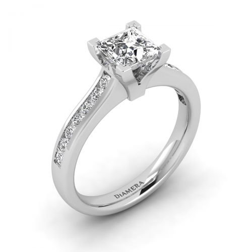 18K White Gold Addison Pave Engagement Ring