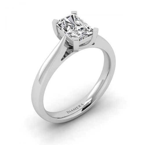18K White Gold Caitlyn Solitaire Engagement Ring with 0.33 Carat Round Diamond