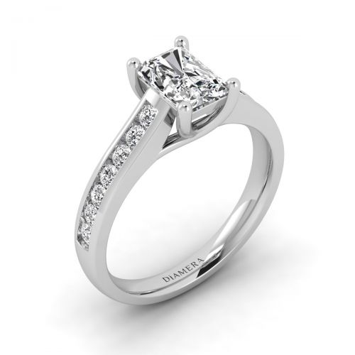 18K White Gold Hollie Pave Engagement Ring