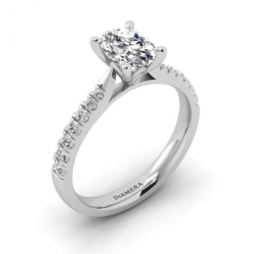 18K White Gold Quirin Pave Engagement Ring