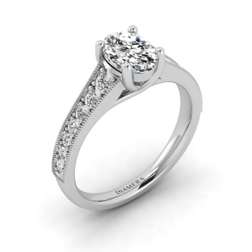 18K White Gold Athena Pave Engagement Ring