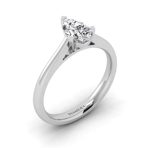 18K White Gold  Heidi Solitaire Engagement Ring