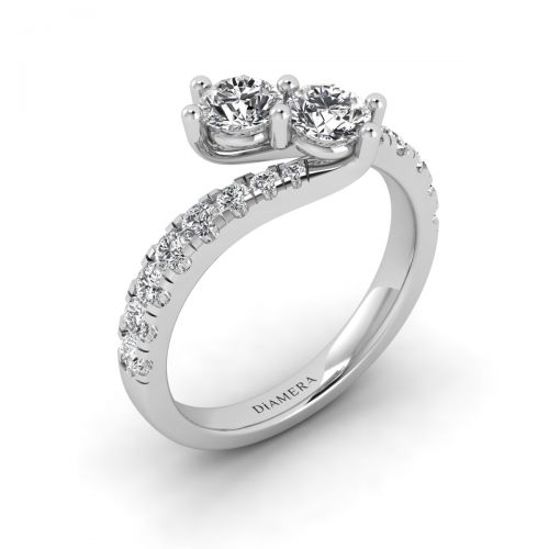 18K White Gold Ansien