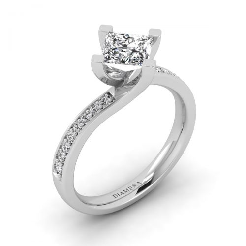Lizette Pave Engagement Ring
