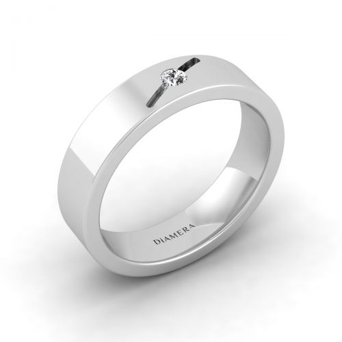 18K White Gold Traditional Classic Wedding  Ring