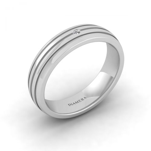 18K White Gold Petite Quattro Classic Edge Ring