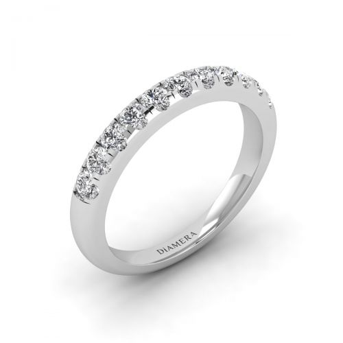 18K White Gold Luminous Pave Diamond Ring