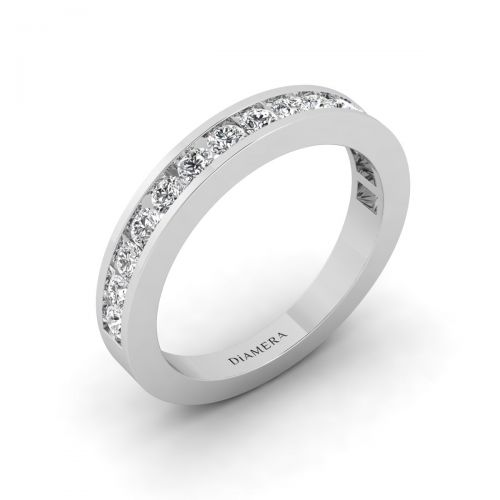 Half Eternity Channel Set  Ring - 0.83 ct.