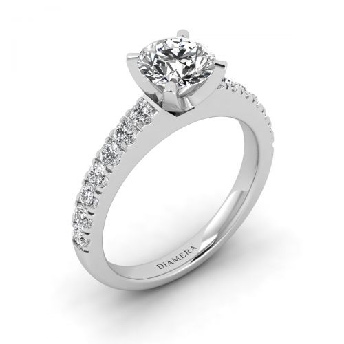 Juliette Solitaire Engagement Ring with 0.41 Carat Round Diamond