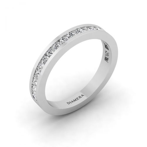 18K White Gold Classic Channel Eternity Ring - 0.24 ct.