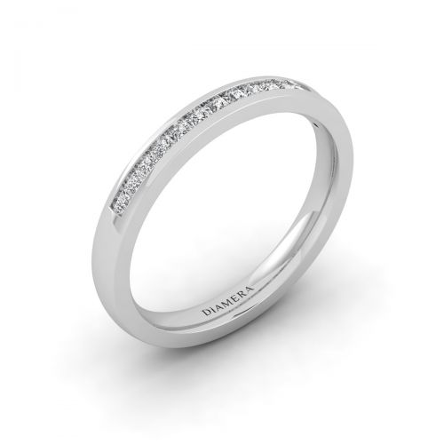 18K White Gold Timeless Princess Eternity Ring