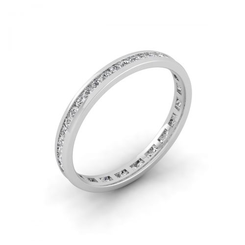 18K White Gold Gracious Trendy Eternity Ring