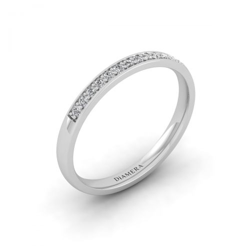 18K White Gold Alluring Lovely Diamond Ring - 0.13 ct.