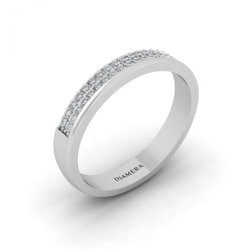 18K White Gold Gracious Pave Set Eternity Ring