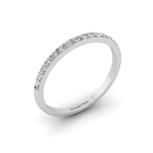 18K White Gold Sparkling Chic Eternity Ring - 0.25 ct.