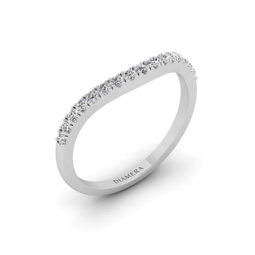 18K White Gold Flair Eternity Diamond Ring
