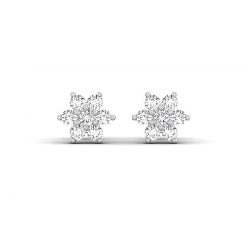 Shiny Floral Round Designer Stud Earrings