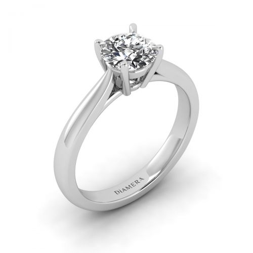 Stephanie Solitaire Engagement Ring with 0.23 Carat Round Diamond