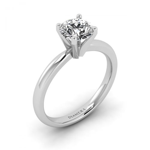 Rosalie Solitaire Engagement Ring with 1.01 Carat Cushion Diamond