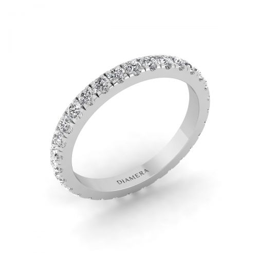 Eternity V-Split Wedding Band Ring - 0.93 ct.
