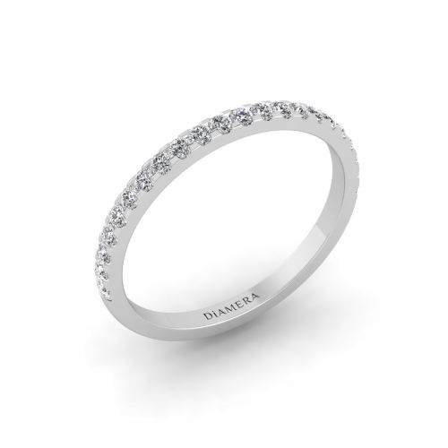 Dainty Round Eternity Wedding Ring - 0.30 ct.