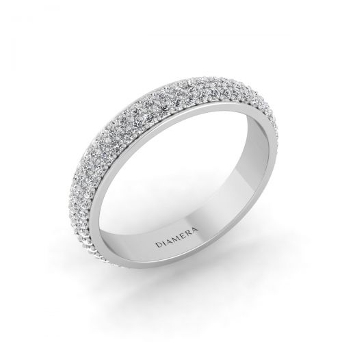 Pretty Pave Eternity Diamond Ring