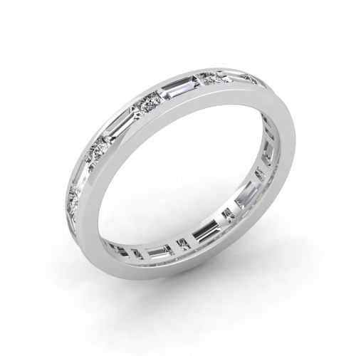 Dainty Double Stone Eternity Ring