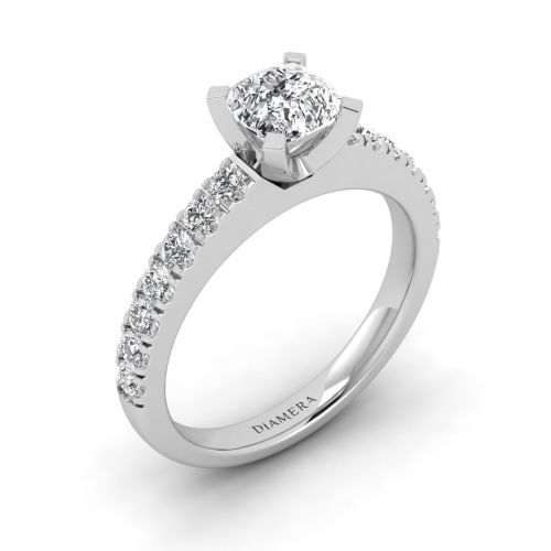 Rosie Pave Engagement Ring